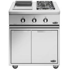 dcs liberty 30 inch freestanding natural gas double side burner and griddle gc