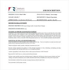 Assistant Branch Manager Job Description Credit Union Branch Manager