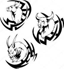 Býčí Hlava Tetování Stock Vektor Rorius 43525233