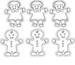 Gingerbread Man Color Pages Zupa Miljevcicom