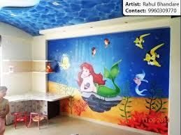 Cartoon painting & Kids bedroom wall painting artist in Pune & Mumbai