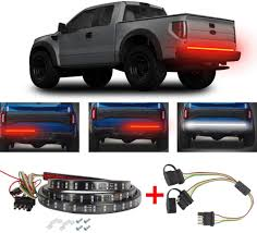 Brake Light Splitter 60 Inch 2 Row Tailgate Light Bar Led Tail Lights Turn Signal Running Brake Reverse Backup Waterproof 5 Fcunction Led Brake Light Strip With 4