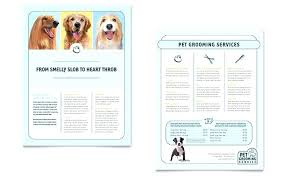 Pet Information Template Information Pamphlet Template Dog Grooming Flyers Template