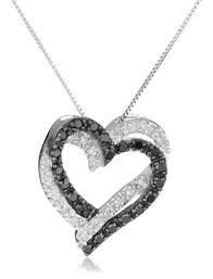 jewelry double heart necklace double heart necklace jewelry pendant necklace in 14k white gold from gemone