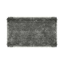 laura ashley er chenille 27 in x 45 in bath mat in charcoal