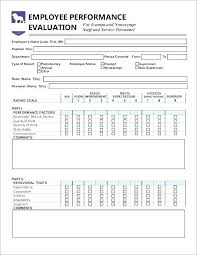 Free Employee Performance Review Templates Appraisal Form