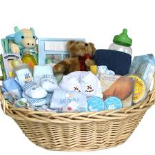 amazon deluxe baby gift basket blue for boys great shower gift idea for newborns baby laundry basket baby