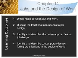 Contemporary Approaches To Job Design Chapter 14