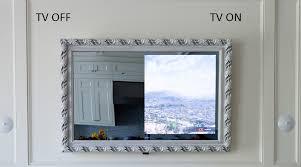 mirror tv. framed vanishing mirror tv tv c