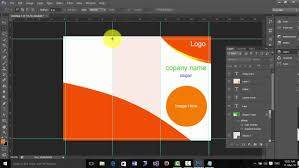 How To Design A Brochure In Photoshop Cs6 Youtube