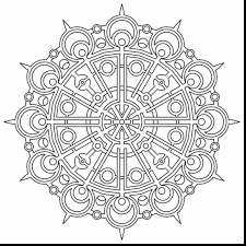 Unbelievable Geometric Mandala Coloring Pages With