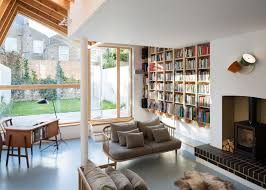 Living Room Extension Forrester Architects Extension Has A Butterfly Wing Shaped Roof