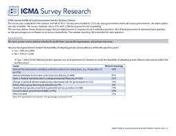 Survey Report Icma Survey Research 2012 Alternative Service Delivery