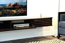 wall mount entertainment center floating