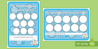 Washing Chart Handwashing 10 Stickers Reward Chart Handwashing Hand