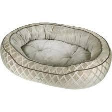 Pooch Planet Bed Poochplanet Sleeping Beauty Pet Bed Silver Tan 30