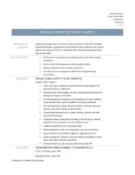 Emergency Room Rn Resume Triage Nurse Resume Sample And Job Description Online