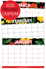 2020 Printable Calendar Yearly 2020 Calendar Free Printable Get Ready For A Fabulous 2020