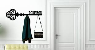 Personalized Coat Racks Personalized Key Hanger Rack wall decals Dezign With a Z 79