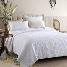 vintage white coverlet by macey  moore