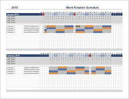 How To Make Schedules For Employees Free Rotation Schedule Template