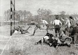 the victorian era football rugby england victorian days net many believe that rugby was born in 1823 when william webb ellis fine disregard for the rules of football soccer as played in his time