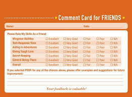 Comment Cards Comment Card Examples Barca Fontanacountryinn Com