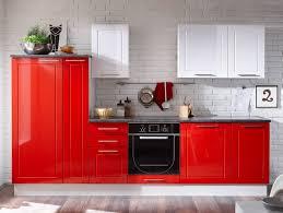 Sofie Küchenblock Küche Dekor Rot Weiß Hochglanz Mit Selbsteinzug