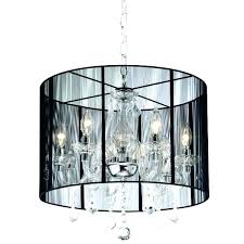 black drum shade chandelier chandelier with black shade and crystal drops black shade crystal chandelier s black drum shade crystal black drum shade dining