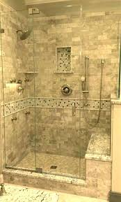 shower with bench stone shower bench walk in shower with bench stone tile walk in shower