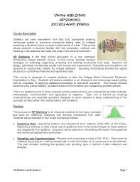 ap statistics sample audit syllabus