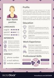 Female Resume Template With Infographics Elements