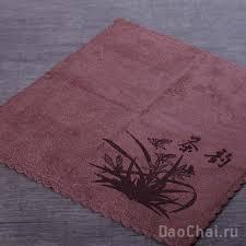 <b>Полотенце для чайной</b> церемонии Чабу Орхидея, коричнево ...