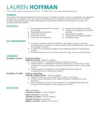 best professor resume example livecareer create my resume