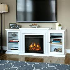 white entertainment console real flame electric fireplace in white distressed white entertainment console