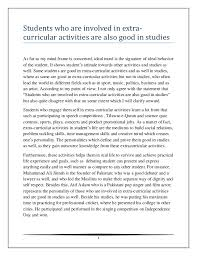 students who are involved in extra curricular activities are better s students who are involved in extra curricular activities are also good in studiesas far as