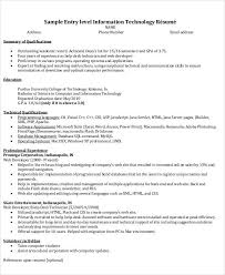 Purdue Resume Sample Best of Information Technology Resume Template Word Commily
