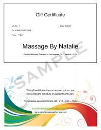 massage therapy gift certificates give the gift of massage gift certificates