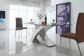 modern glass dining table. 2014 Modern Glass Dining Table And Stainless Steel L