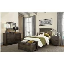 industrial rustic gray 4 piece twin bedroom set thornwood hills rc willey furniture