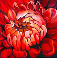 acrylic painting flowers dahlia the art of painting flowers in oil acrylic