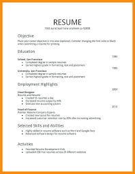 Different Types Of Resume Different Types Of Resumes Styles