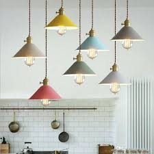 modern metal hanging lighting macarons color umbrella iron pendant metal pendant lights metal pendant lamp shades
