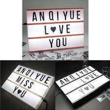 Diy Light Sign Board Details About Cinematic Cinema Led Light Letter Box Sign Lightbox Diy Message Board Lamp Decor
