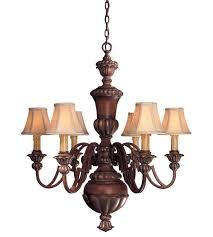 minka lavery belcaro 6 light chandelier in belcaro walnut 946 126 photo