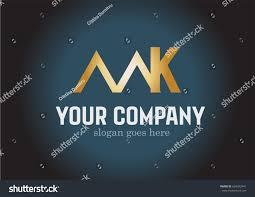 Mk Logo Design Vector Golden Mk Logo Design Vector Stock Vector Royalty Free