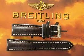breitling unk# 24-20 <b>brown smooth</b> calf tongue buckle <b>watch band</b> ...