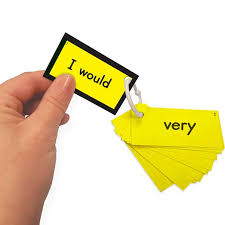 Ezread Sight Word Mini Flash Cards Dolch Second Grade Yellow Set
