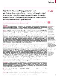 faith orchard faithorchard twitter no evidence for superiority of cbt or psychoanalytical therapy compared a brief psychosocial intervention