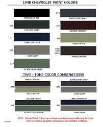 Napa Auto Paint Color Chart 44 Factual Gm Paint Colors